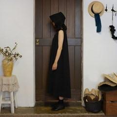 에일린 린넨 드레스 : Eileen linen dress - black