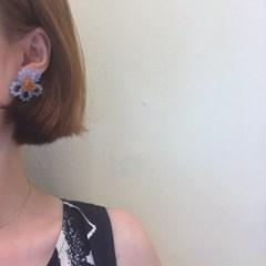 [큐빅 플라워 귀걸이] 썸플라워 이어링