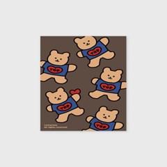 Bear heart-brown(엽서)_(1206795)