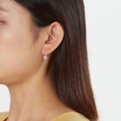 미니 큐빅 볼 귀걸이