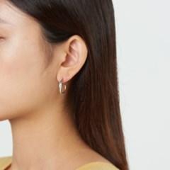 무광 꼬임 링 귀걸이