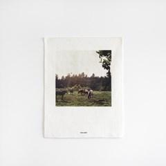 평화로운 제주 풍경 패브릭 포스터