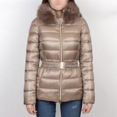 19FW 에르노 CLAUDIA 여성 폭스퍼 구스다운 자켓 (베이지) PI0485DIC