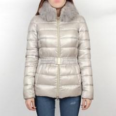 19FW 에르노 CLAUDIA 여성 폭스퍼 구스다운 자켓 (펄그레이) PI0485D
