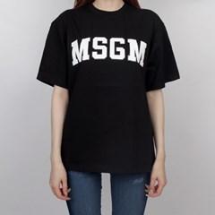 19FW MSGM 로고 티셔츠 (블랙/여성) 2741MDM62 797 99