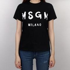 19FW MSGM 필기체 로고 티셔츠 (블랙/여성) 2741MDM60 797 99