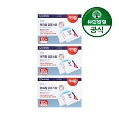 [유한양행]해피홈 소독용 알콜스왑 100매입 3개_(2061673)