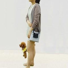 퍼피랑 산책가방(그레이)