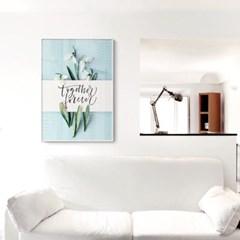 메탈 식물 캘리그라피 포스터 인테리어 액자 투게더