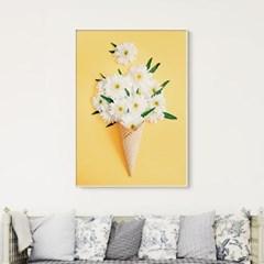 메탈 꽃 식물 감성 포스터 인테리어 액자 카모마일