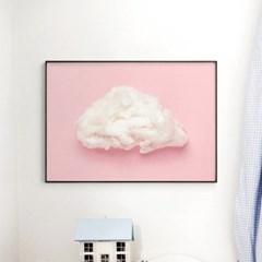 메탈 북유럽 그림 포스터 인테리어 액자 솜사탕 구름