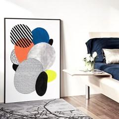 메탈 추상화 패턴 그림 포스터 인테리어 액자 구성 B