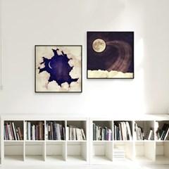 메탈 빈티지 포스터 달 그림 액자 Vintage moon sky 1