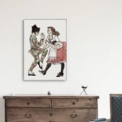 메탈 일러스트 할리퀸 그림 포스터 인테리어 액자 Harlequin
