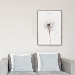 메탈 보테니컬 꽃 식물 포스터 인테리어 액자 민들레