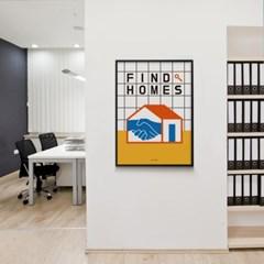유니크 인테리어 디자인 포스터 M 집을 찾아드립니다 부동산