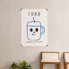 유니크 인테리어 디자인 포스터 M 1988커피2 카페 베이커리