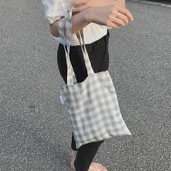 Linen summer grey bag. (hand made)
