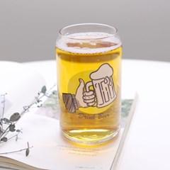 비어 유리컵