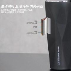 키친아트 락 스텐304 텀블러 모던블랙 900ml_(2302407)