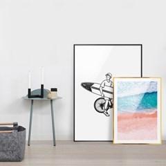 에이모노 서핑 일러스트 포스터 - A1 A2 A3 A4 12X12