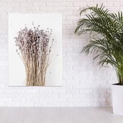 패브릭 포스터 식물 꽃 플라워 인테리어 그림 액자 라벤더