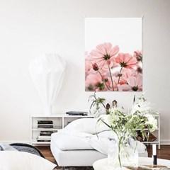 패브릭 포스터 식물 플라워 인테리어 그림 액자 코스모스