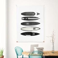 패브릭 포스터 여름 거실 카페 인테리어 그림 액자 서핑보드