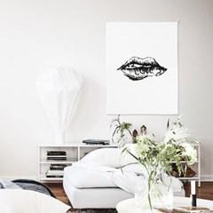 패브릭 포스터 거실 인테리어 그림 액자 립스