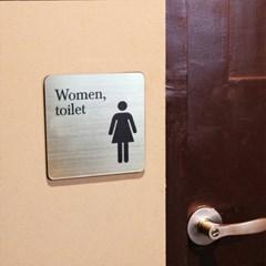메탈사인 화장실 표지판 (정사각)