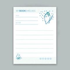 [노낫네버] 나의 책장 : 독서 기록장 메모패드