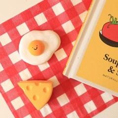 계란후라이 & 치즈 석고방향제 set (리필오일 포함)