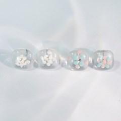 페인트 투명 귀걸이 (2types)