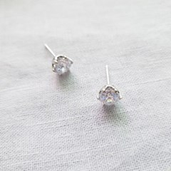 Everyday Cubic Earrings - Silver925