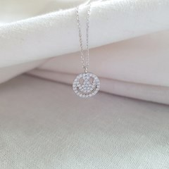 Smile Cubic Necklace - Silver925