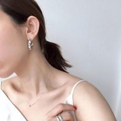 오픈 범피 후프 귀걸이 open bumpy hoop (2col
