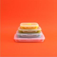 (미국 FDA) 수납왕 접이식 런치박스