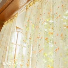 퓨어블룸 쉬폰 가리개 커튼(창문형/긴창형)1장/봉구성