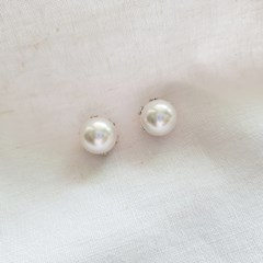 Large Baroque Pearl Earrings - Silver925