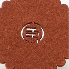흡수 잔받침 8p세트-브라운