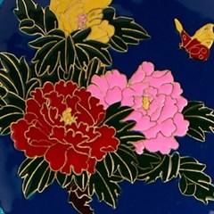 경태람 모란꽃 찻잔 받침
