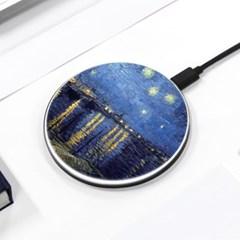[반 고흐] 아를의 별이 빛나는 밤 - 무선충전 명화디자인패드
