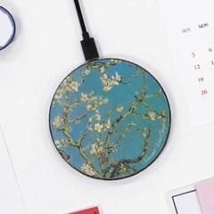 [반 고흐] 꽃 피는 아몬드나무 - 무선충전 명화디자인패드
