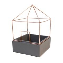 [썩유케이] 시멘트 철제 하우스 콘크리트 화분_(1707255)