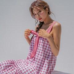 핑크체크 나시 pajamas