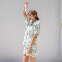 비스켓 반팔 pajama set (3P)