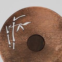 MF-024 대나무 무늬 찻잔 받침 6P