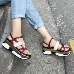 kami et muse  Enamel belt point tall up sandals_KM19s307