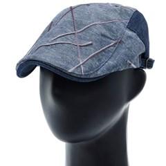 [더그레이]PMH39.체인자수 데님배색 헌팅캡 남성 모자