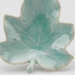 GZBL-005 가요 도자기 나뭇잎형 찻잔 받침